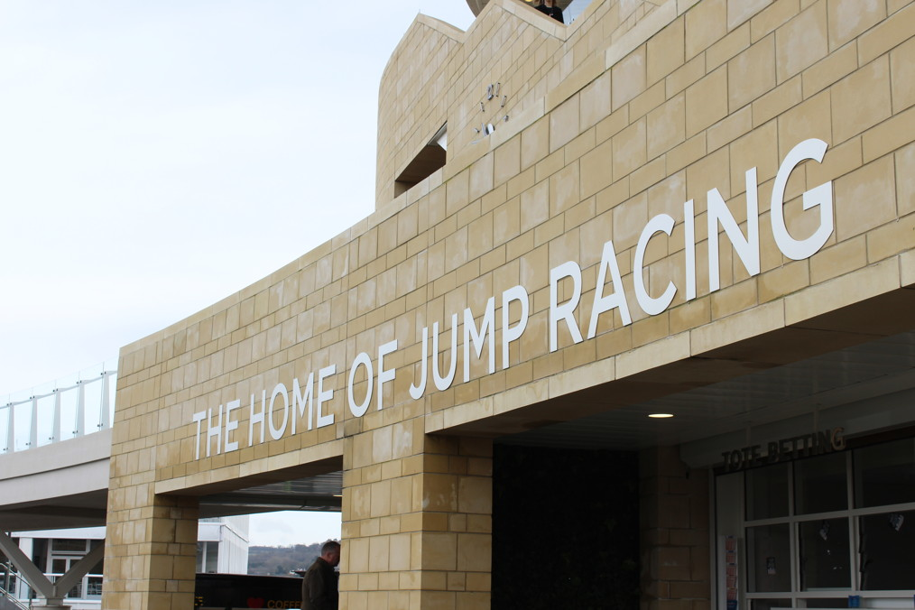 the home of racing sign at cheltenham racecourse