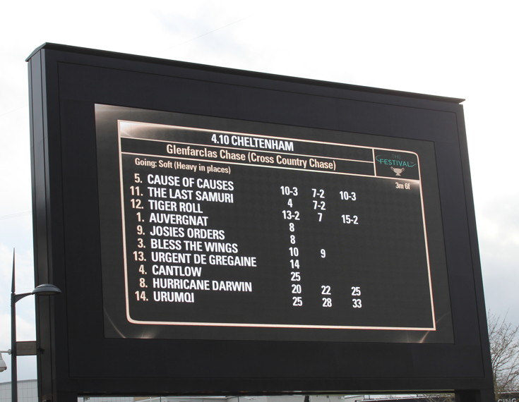 cross country chase ladies day race information board
