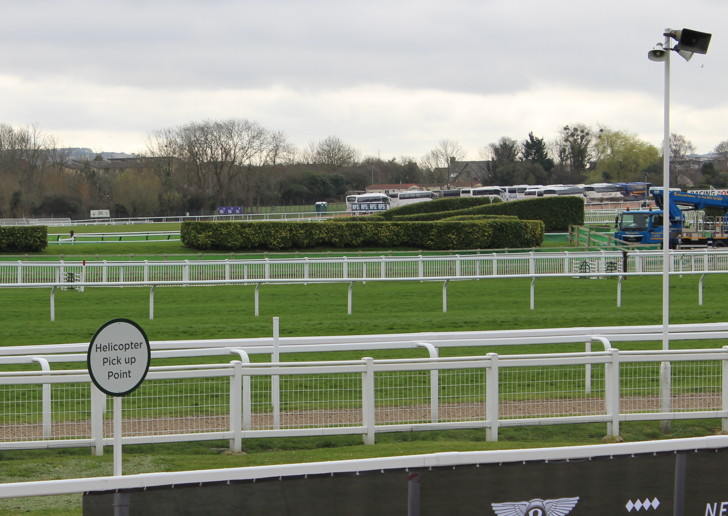 Helicopter Pick Up Point at Cheltenham Racecourse