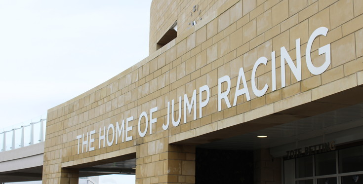 home of jump racing sign at cheltenham racecourse 2