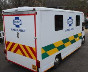 horse ambulance at cheltenham festival