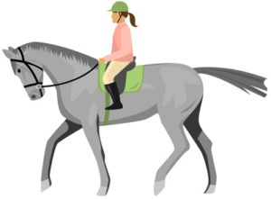 female jockey graphic