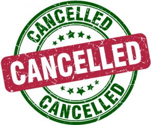 cancelled sign