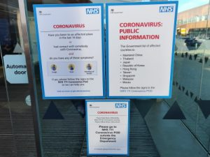 coronavirus warnings at arrowe park hospital