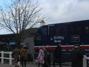 gordon elliot and collin tizzard horse boxes at cheltenham