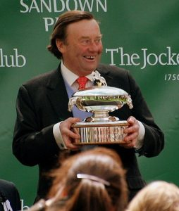 nicky henderson with trophy