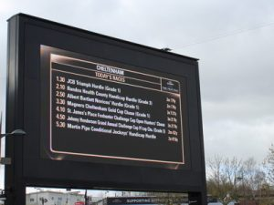 cheltenham gold cup day race card on board