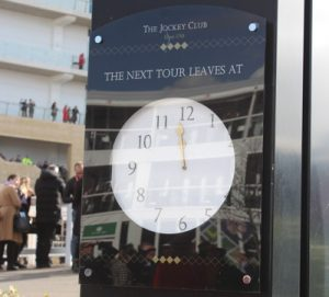clock at cheltenham racecourse