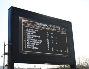gold cup race board at cheltenham