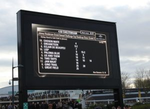 grand annual chase race board at cheltenham gold cup day