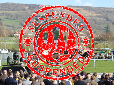 horse racing suspended