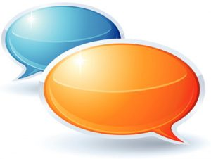 speech bubbles opinion
